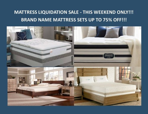 Mattress Liquidation Sale July 17 19 Charleston Furniture Direct
