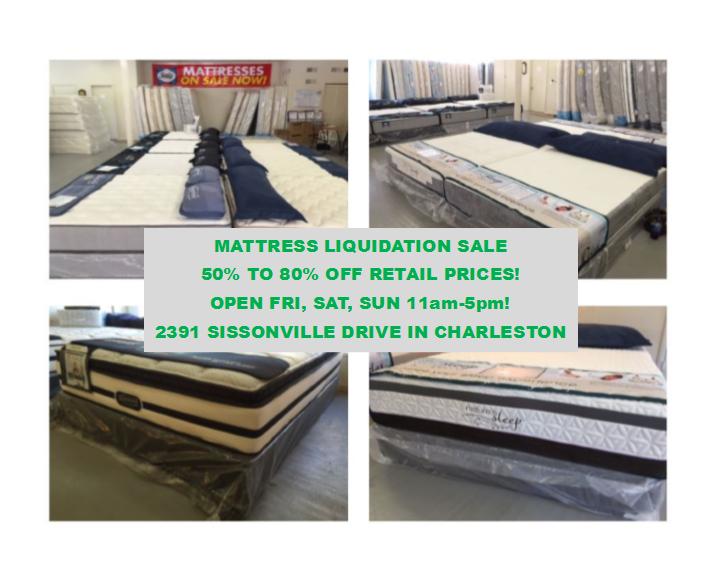 Mattress Liquidation Sale March 11 13 Charleston Furniture Direct